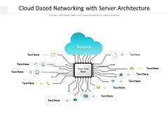 Cloud Dazed Networking With Server Architecture Ppt PowerPoint Presentation Portfolio Slides