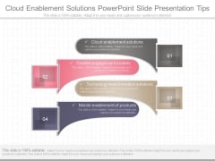 Cloud Enablement Solutions Powerpoint Slide Presentation Tips