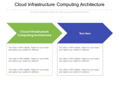 Cloud Infrastructure Computing Architecture Ppt PowerPoint Presentation Inspiration Elements Cpb Pdf