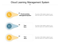 Cloud Learning Management System Ppt PowerPoint Presentation Summary Clipart Images Cpb
