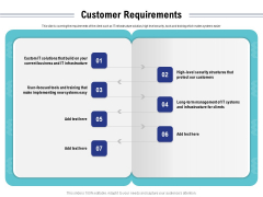 Cloud Managed Services Pricing Guide Customer Requirements Ppt Summary Grid PDF