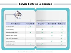 Cloud Managed Services Pricing Guide Service Features Comparison Ppt Gallery Infographic Template PDF