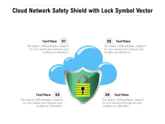 Cloud Network Safety Shield With Lock Symbol Vector Ppt PowerPoint Presentation File Maker PDF
