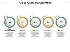 Cloud Order Management Ppt PowerPoint Presentation Outline Summary Cpb Pdf