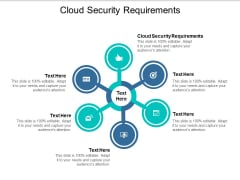 Cloud Security Requirements Ppt PowerPoint Presentation Icon Master Slide Cpb