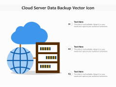 Cloud Server Data Backup Vector Icon Ppt PowerPoint Presentation File Picture PDF