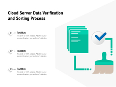 Cloud Server Data Verification And Sorting Process Ppt PowerPoint Presentation File Deck PDF
