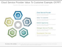 Cloud Service Provider Value To Customer Example Of Ppt