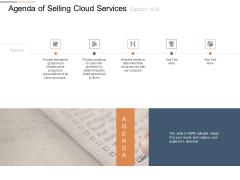Cloud Services Best Practices Marketing Plan Agenda Agenda Of Selling Cloud Services Customer Demonstration PDF