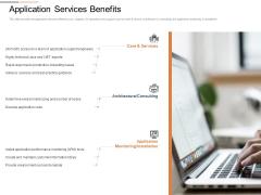 Cloud Services Best Practices Marketing Plan Agenda Application Services Benefits Slides PDF