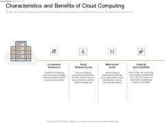 Cloud Services Best Practices Marketing Plan Agenda Characteristics And Benefits Of Cloud Computing Sample PDF