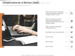 Cloud Services Best Practices Marketing Plan Agenda Infrastructure As A Service Iaas Accessing Information PDF