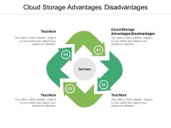 Cloud Storage Advantages Disadvantages Ppt PowerPoint Presentation Model Graphics Download Cpb Pdf