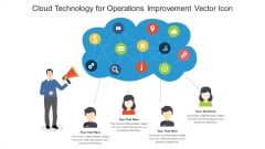Cloud Technology For Operations Improvement Vector Icon Ppt PowerPoint Presentation Gallery Portfolio PDF