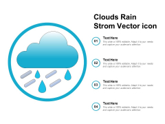 Clouds Rain Strom Vector Icon Ppt Powerpoint Presentation Model Design Templates