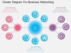 Cluster Diagram For Business Networking Powerpoint Template