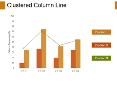 Clustered Column-Line Ppt PowerPoint Presentation Ideas Diagrams