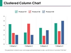 Clustered Column Chart Ppt PowerPoint Presentation Show Samples
