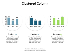 Clustered Column Finance Ppt PowerPoint Presentation Professional Icons