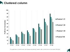 Clustered Column Finance Ppt Powerpoint Presentation Show Design Templates