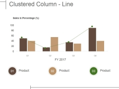 Clustered Column Line Ppt PowerPoint Presentation File Shapes