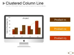Clustered Column Line Ppt PowerPoint Presentation Gallery Graphics Example