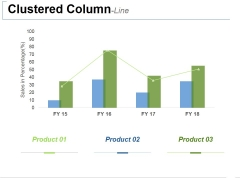 Clustered Column Line Ppt PowerPoint Presentation Icon Templates