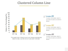 Clustered Column Line Ppt PowerPoint Presentation Infographic Template Design Templates