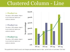 Clustered Column Line Ppt PowerPoint Presentation Infographics Graphics Design