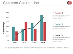 Clustered Column Line Ppt PowerPoint Presentation Infographics Templates