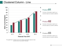 Clustered Column Line Ppt PowerPoint Presentation Model Rules