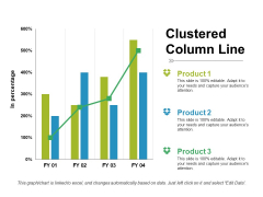 Clustered Column Line Ppt PowerPoint Presentation Show Infographic Template