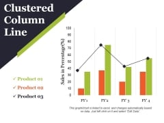 Clustered Column Line Ppt PowerPoint Presentation Slide