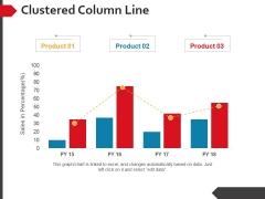 Clustered Column Line Ppt PowerPoint Presentation Slides Deck