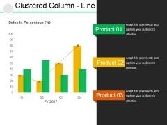Clustered Column Line Ppt PowerPoint Presentation Slides Ideas