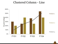 Clustered Column Line Ppt PowerPoint Presentation Slides