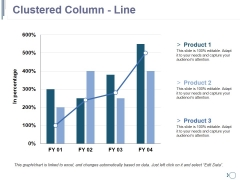 Clustered Column Line Ppt PowerPoint Presentation Slides Themes