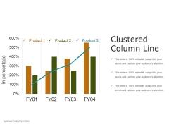 Clustered Column Line Ppt PowerPoint Presentation Summary Slides