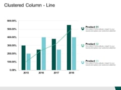 Clustered Column Line Product Financial Ppt PowerPoint Presentation Infographics Guide