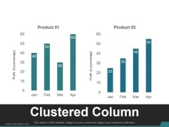 Clustered Column Ppt PowerPoint Presentation Deck
