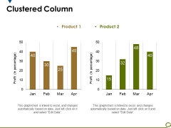 Clustered Column Ppt PowerPoint Presentation File Guidelines