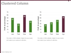 clustered column ppt powerpoint presentation guide
