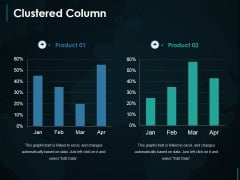 Clustered Column Ppt PowerPoint Presentation Layouts Deck