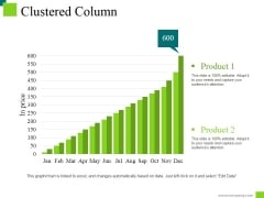 Clustered Column Ppt PowerPoint Presentation Layouts Show