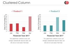 Clustered Column Ppt PowerPoint Presentation Slides Ideas