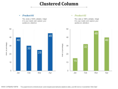 Clustered Column Ppt PowerPoint Presentation Styles Templates