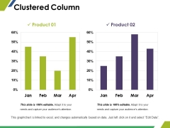 Clustered Column Ppt PowerPoint Presentation Summary Show