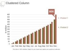 Clustered Column Template 1 Ppt PowerPoint Presentation Pictures