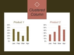 Clustered Column Template 2 Ppt PowerPoint Presentation Example