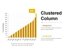 Clustered Column Template 2 Ppt PowerPoint Presentation Summary Smartart
